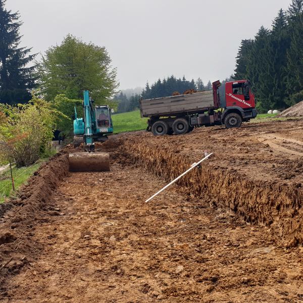 Bodenabtragung Erdbau Abtragung