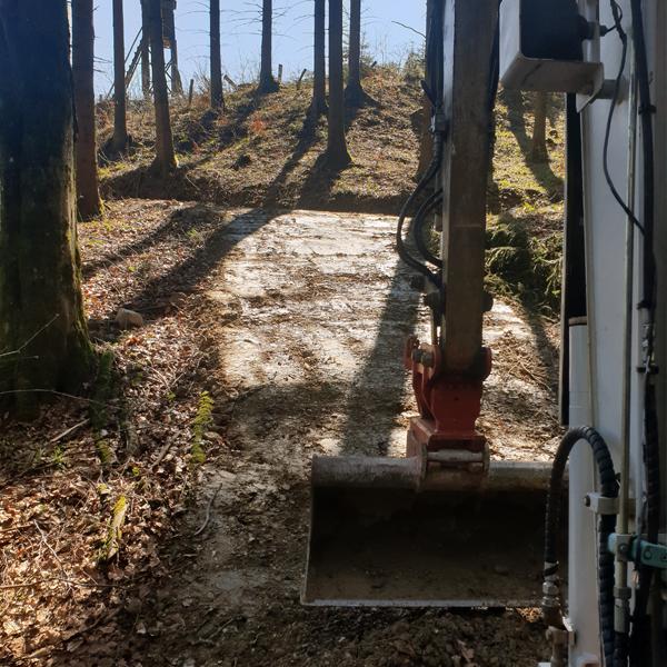 Forstweg Forstwegbau Wegebau Firma Viehauser